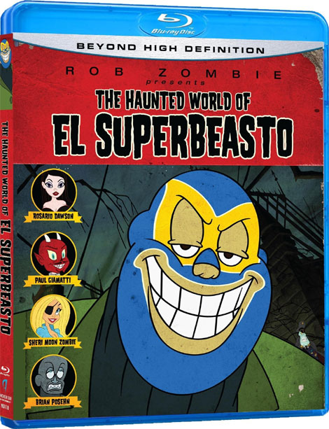 The Haunted World of El Superbeasto Blu-ray Cover