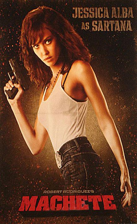 Jessica Alba as Sartana in Robert Rodriguez's Machete