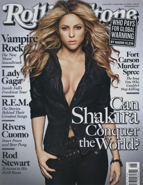 Shakira on the cover of Rolling Stone