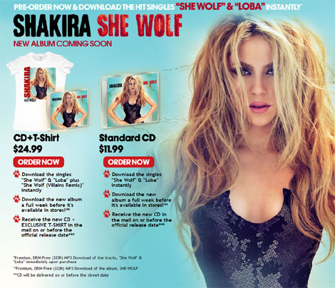 Shakira - She Wolf Exclusive Pre-Order