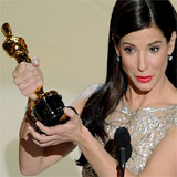 Sandra Bullock Accepts First-Ever Oscar