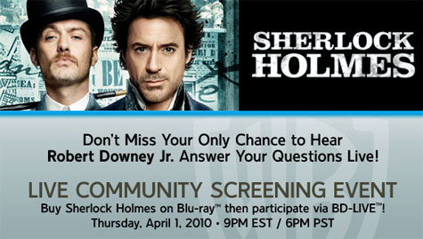 REGISTER NOW - Sherlock Holmes BD-Live Community Screening