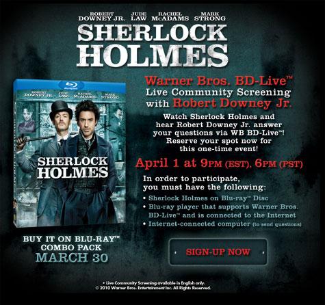 Sherlock Holmes BD-Live Community Event