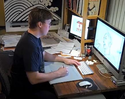 Will Dixon on pencils - Kobro - Why So Blu