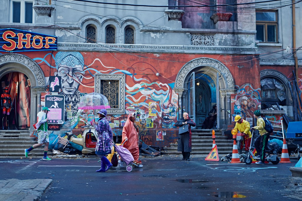 The Zero Theorem - Christoph Waltz in the street BIG