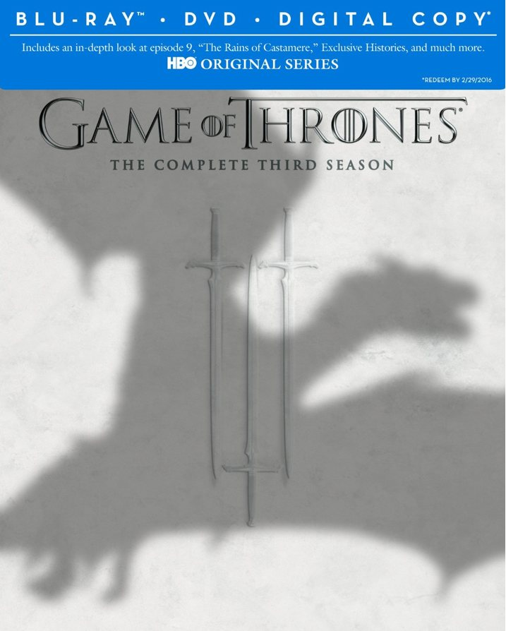 Game of Thrones Season 3 Blu-ray Cover Art