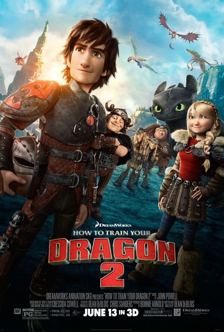 How To train Your Dragon 2 Movie Poster