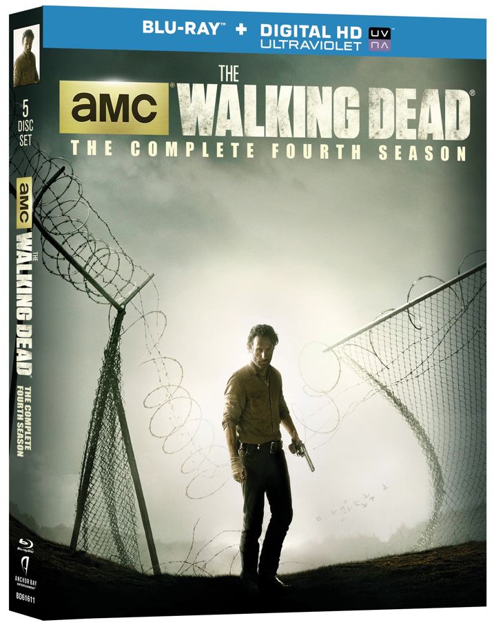 The Walking Dead Complete Fourth Season Blu-ray Cover Art