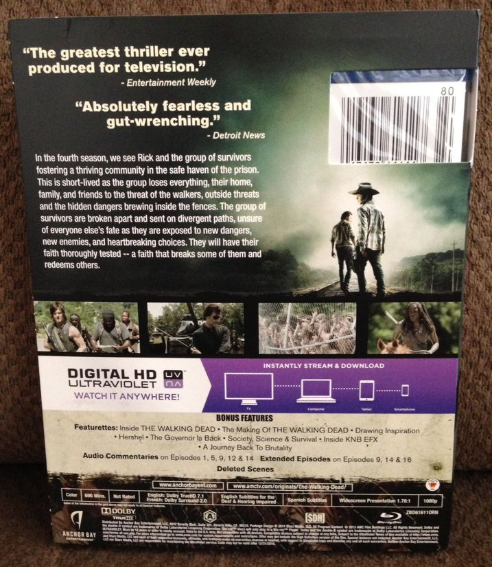 The Walking Dead Season 4 Blu-ray Unboxing 2