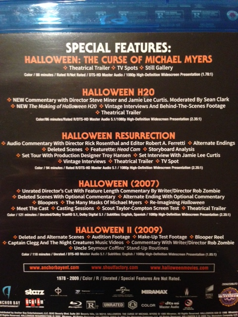 Halloween: The Complete Collection – 10 Disc Edition (Blu