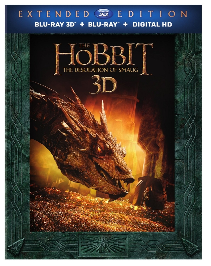 The Hobbit Desolation of Smaug 3D Blu-ray Cover Art