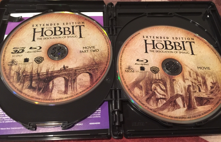 The Hobbit Desolation of Smaug Blu-ray Disc 2 and 3