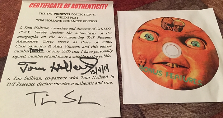 Child's Play Certificate of Authenticity