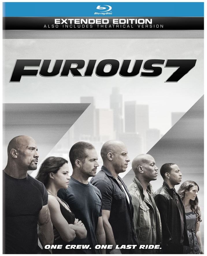 Furious 7 Blu-ray Cover Art