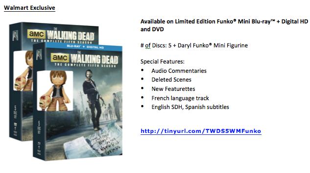 Walking Dead Season 5 Wal-Mart