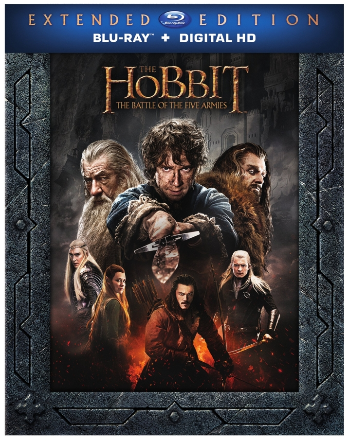 The Hobbit The Battle of Five Armies Blu-ray Cover
