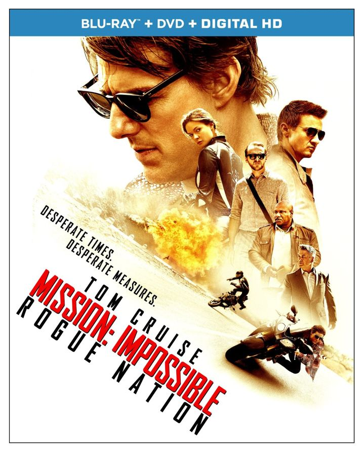 Mission Impossible Rogue Nation Blu-ray Cover Art