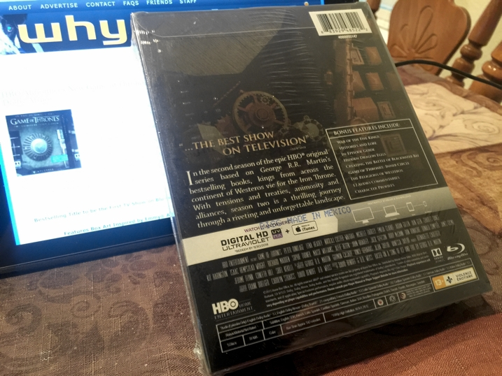 Game of Thrones Season 2 Steelbook