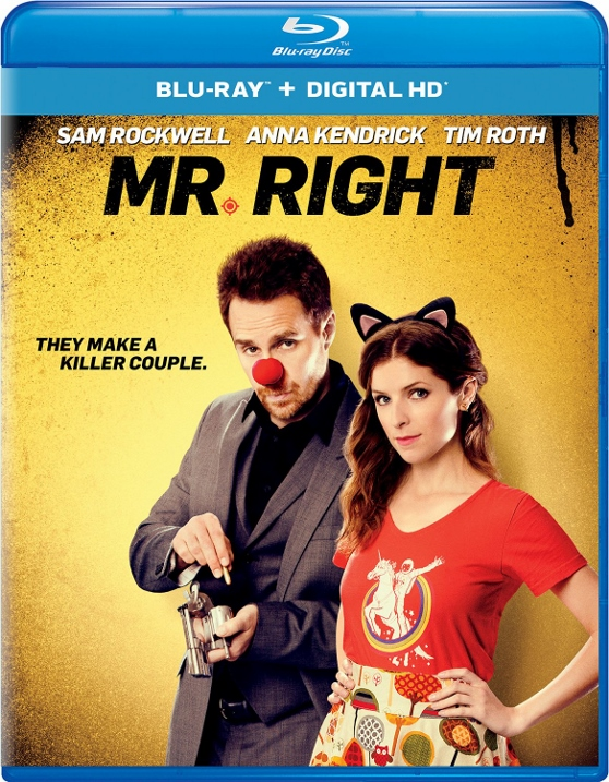 MR. RIGHT arrives on Blu-Ray and DVD June 7!