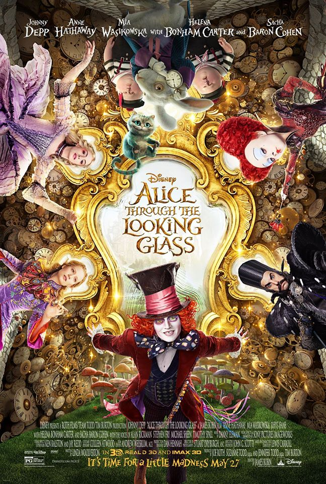 alice looking glass poster