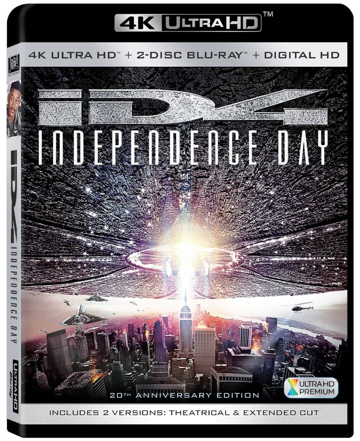 Independence Day 4K Blu-ray Cover