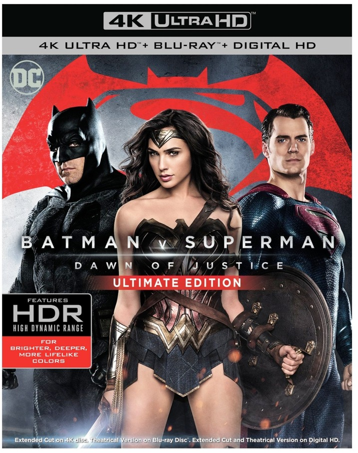 Batman v Superman- Dawn of Justice (4K Ultra HD) Blu-ray Cover