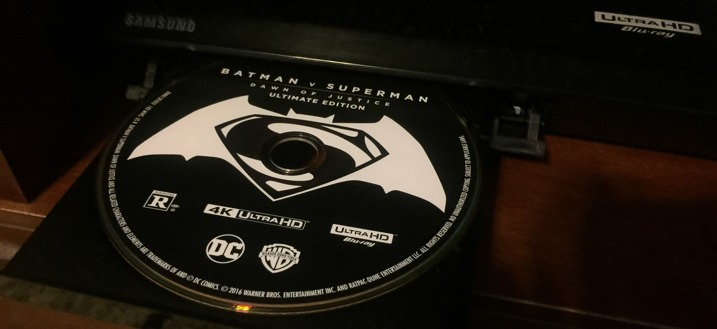 BvS 4K UHD Blu-ray Disc