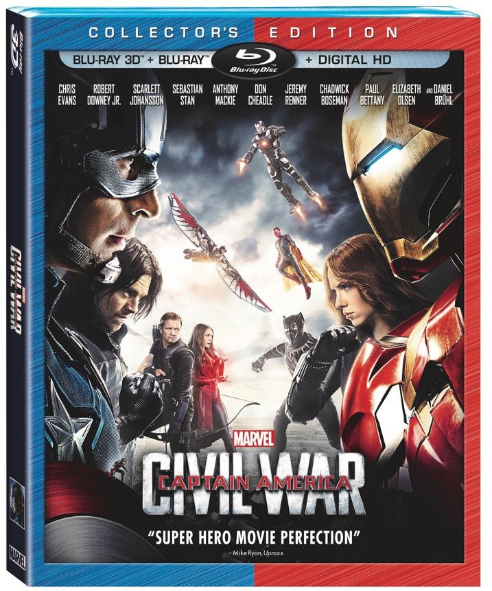Captain America Civil War Blu-ray Cover