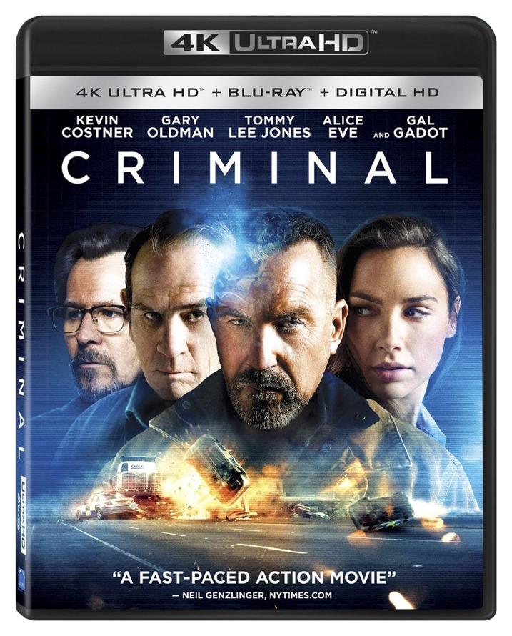 Criminal 4K UHD Blu-ray