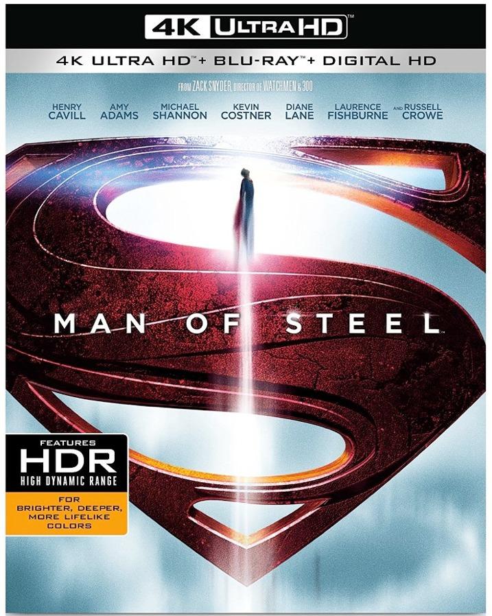 Man of Steel 4K UHD Blu-ray Cover