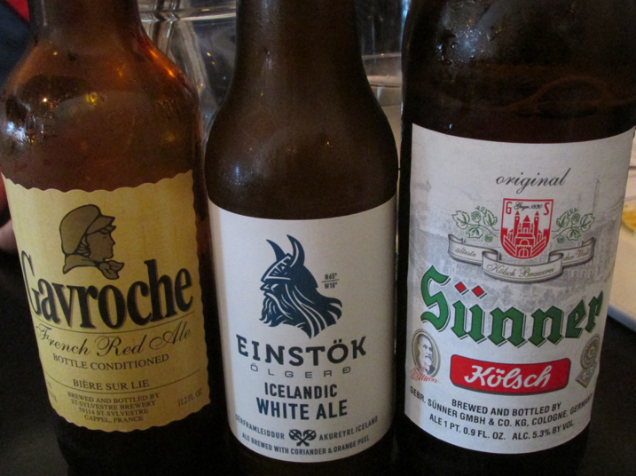 Or a fine selection of French, German and Icelandic beer!