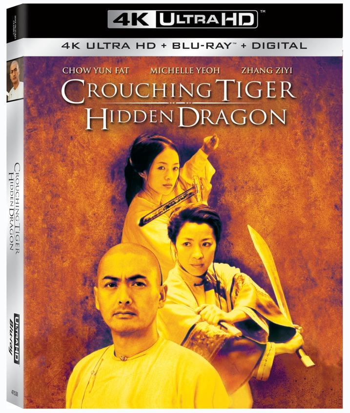 Crouching Tiger Hidden Dragon 4K Blu-ray Cover