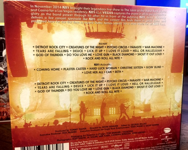 Finally here's the back of the cardboard packaging proudly displaying the tracklist on everything found inside.