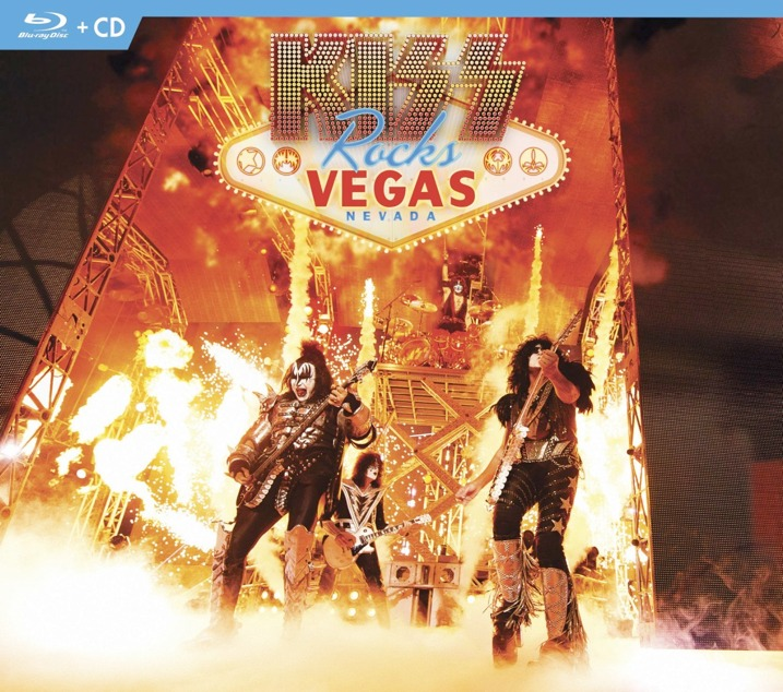 Kiss Rocks Vegas Blu-ray CD Cover