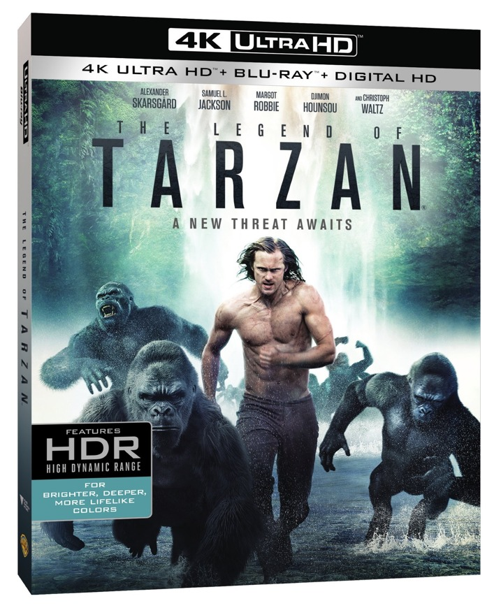 The Legend of Tarzan 4K Blu-ray Cover Art