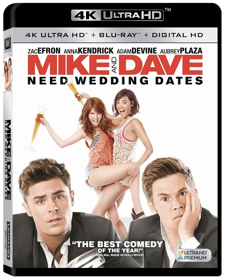 Mike & Dave Need Wedding Dates 4K Blu-ray