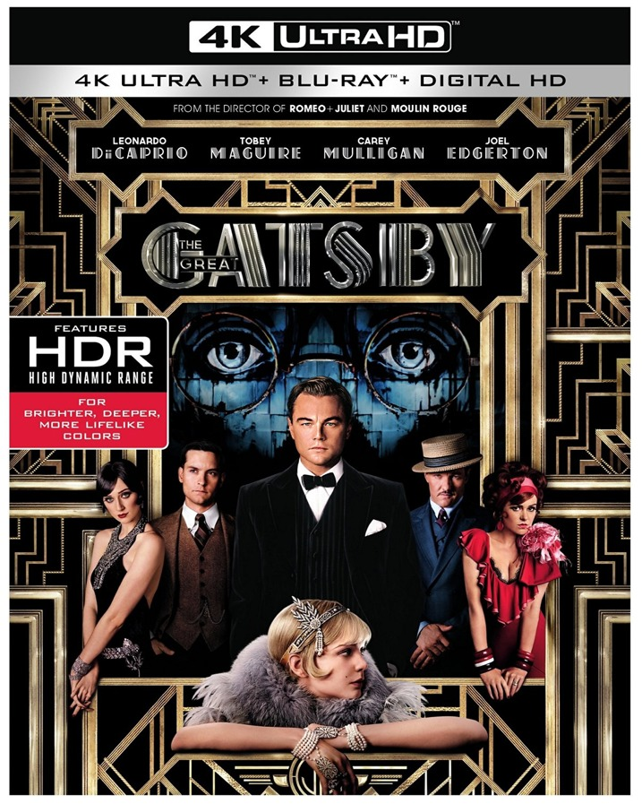 The Great Gatsby 4K Ultra HD Blu-ray Cover