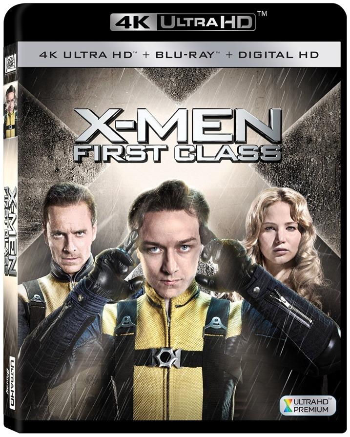 X-Men First Class 4K Blu-ray Cover