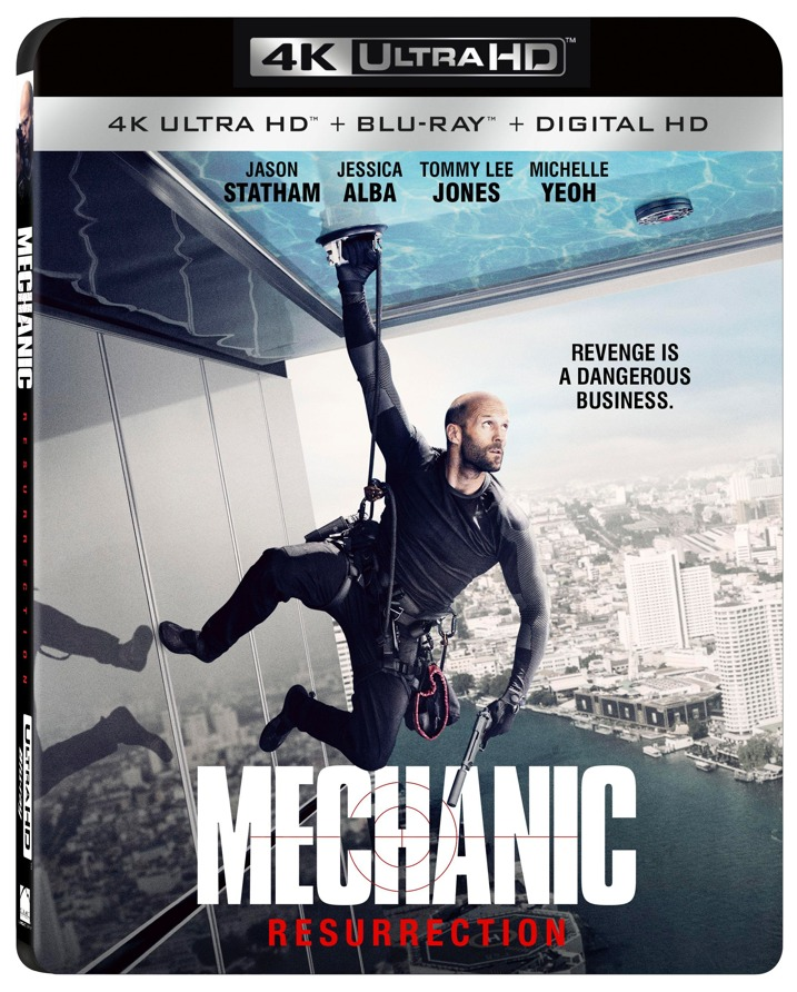 Mechanic Resurrection 4K Blu-ray Cover Art