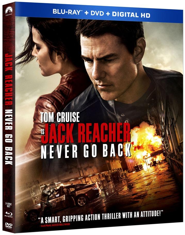 Jack Reacher Never Go Back Blu-ray Cover Art