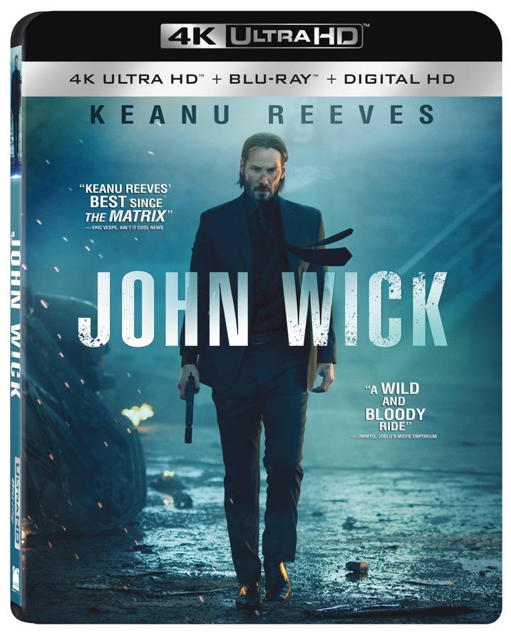 John Wick 4K UHD Blu-ray Cover