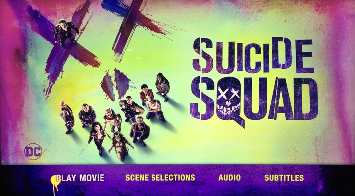 Suicide Squad 4K Blu-ray Main Menu