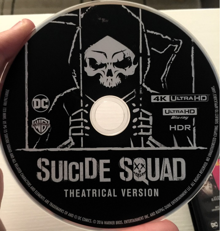 Suicide Squad 4K Blu-ray disc