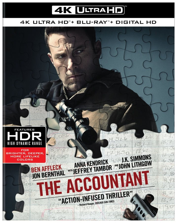 The Accountant 4K Ultra HD Blu-ray Cover