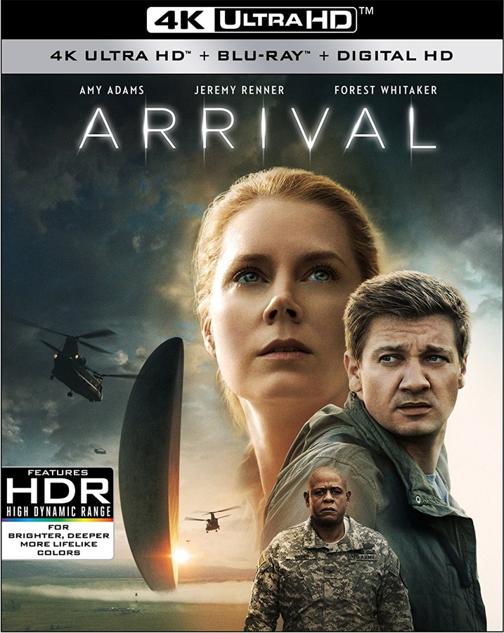 Arrival 4K UHD Blu-ray Cover