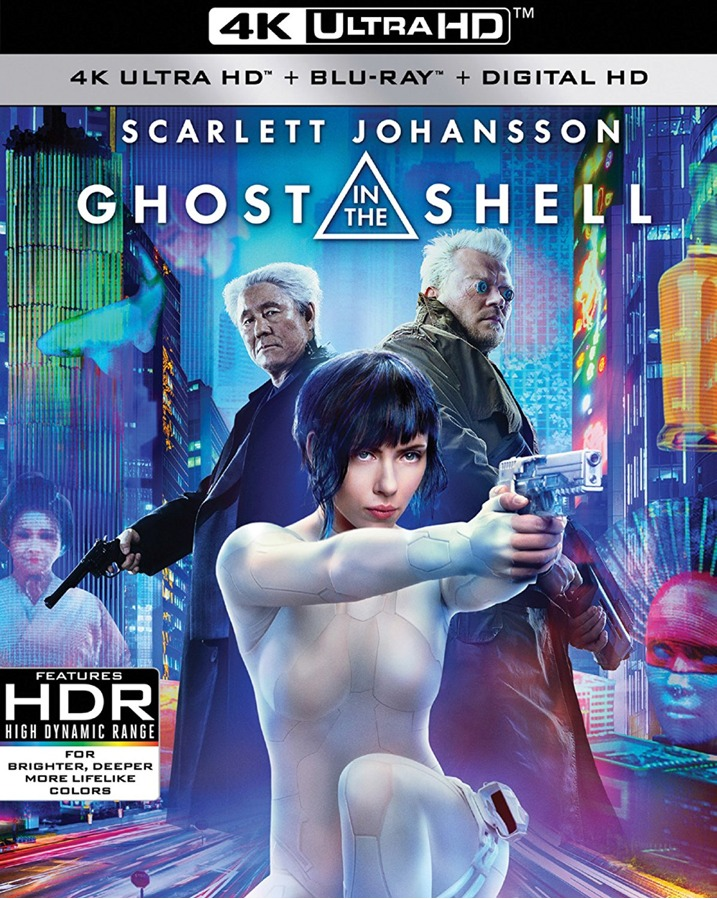 Ghost in the Shell 4K Ultra HD Blu-ray Cover