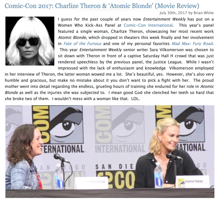 Atomic Blonde - Charlize Theron - Comic-Con 2017