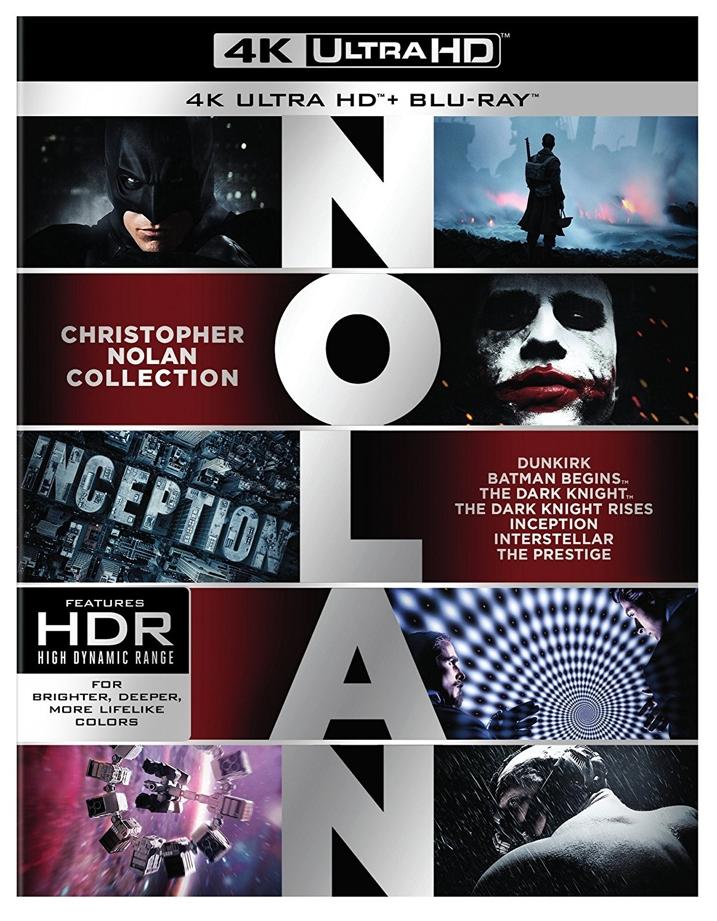 Christopher Nolan 4K Collection Cover
