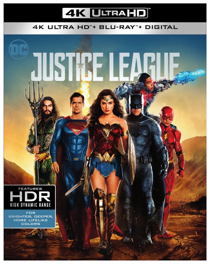 Justice League 4K UHD Blu-ray Cover
